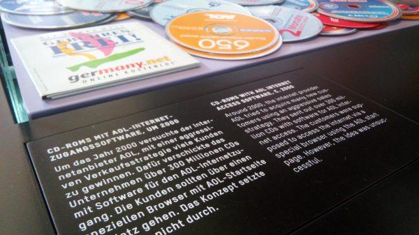 AOL CDs als Ausstellungstück